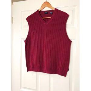 3/$20 ⭐️ IZOD Burgundy Ribbed V-Neck Sweater Vest